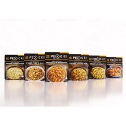 Peak Refuel Variety Meal Kit | Pack of 6 | 12 Total Servings | Freeze Dried Backpacking and Camp ...