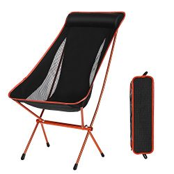 Domary Outdoor Folding Camping Chairs Portable Moon Leisure Chair Beach Chairs with Carry Bag fo ...