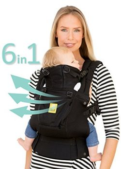 LÍLLÉbaby The COMPLETE Airflow SIX-Position, 360° Ergonomic Baby & Child Carrier, Black