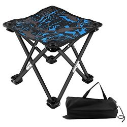 BlueStraw Portable Folding Stool Slacker Chair, Mini Ultralight Outdoor Folding Chair for Campin ...