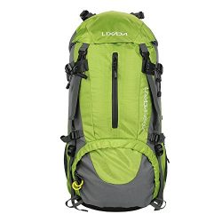 Lixada 50L Hiking Backpack with Rain Cover Outdoor Water Resistant Backpacking Daypack for Trekk ...