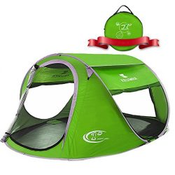 ZOMAKE Pop Up Tent 4 Person, Beach Tent Sun Shelter for Baby with UV Protection – Automati ...