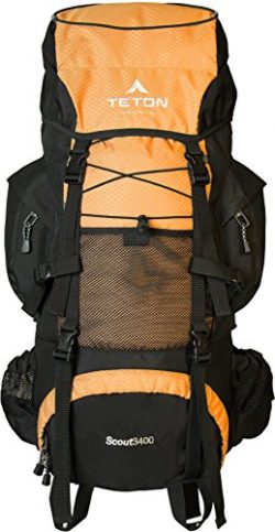 Teton Sports Scout 3400 Internal Frame Backpack; High-Performance Backpack for Backpacking, Hiki ...