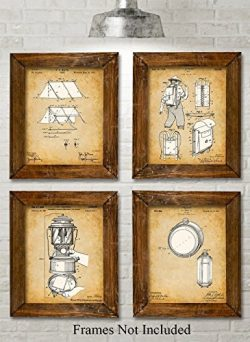 Original Camping Patent Prints – Set of Four Photos (8×10) Unframed – Great Gif ...