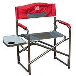Timber Ridge Portable Director's Folding Chair Lightweight with Side Table Supports 300lbs