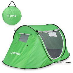 Ebung Pop Up Camping Tent – Compact Instant Tent for Casual Camping – Weekender Camping Tent for ...
