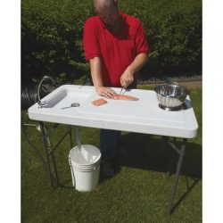 Fish Cleaning Camp Table With Faucet