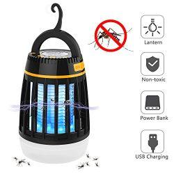 BATTOP Bug Zapper Outdoor, 3 in 1 Camping Lantern & Mosquito Killer & Power Bank – ...