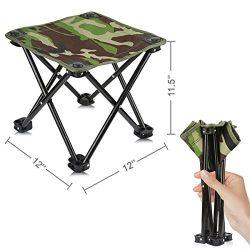 Mini Portable Folding Stool,Folding Camping Stool,Outdoor Folding Chair Slacker Chair for BBQ,Ca ...