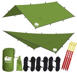 Chill Gorilla 12′ HAMMOCK RAIN FLY TENT TARP Waterproof Camping Shelter. Essential Surviva ...