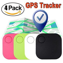Xenzy 4 Pack Smart Tracker Key Finder Anti lost Locator for Pet Dog Cat Child Wallet Bag GPS Tra ...