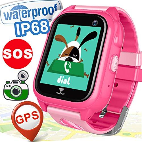 Kid Smart Watch Phone GPS Tracker for Girls Boys with SIM IP68