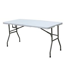 soges Folding Table 70.9 by 29.1 inch, Portal Outdoor Folding Utility Table for Garden, Beach, C ...