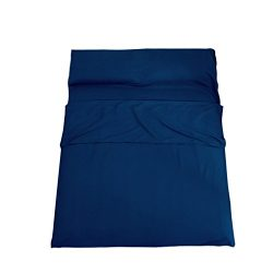 AUSTY Double Sleeping Bag Liner Camping Sleep Sheet Soft and Breathable for Travel Hotel Outdoor ...