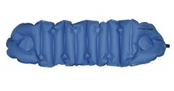 Klymit Cush Inflatable Pillow & Seat Cushion, Blue/Gray
