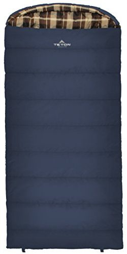 Teton Sports Celsius XL -18C/0F Sleeping Bag; 0 Degree Sleeping Bag Great for Cold Weather Campi ...