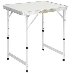Best Choice Products Aluminum Camping Picnic Folding Table Portable Outdoor, 23.5″ x 17.5& ...