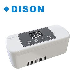 Dison High Volume Portable Insulin Cooler Refrigerated Box,Rechargeable LCD Display 2-8℃ Car Ins ...