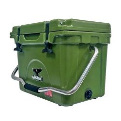 ORCA ORCG020 Cooler with Single Flex-Grip Stainless Steel Handle for Simple Solo Portage, 20 qua ...