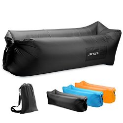 JSVER Inflatable Lounger Air Sofa with Portable Package for Travelling, Camping, Hiking, Pool an ...