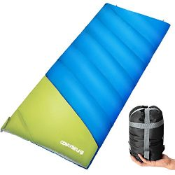 FUNDANGO Lightweight Oversize Sleeping Bag Portable for Cool Weather Camping, Hiking,Backpacking ...