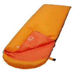 SONGMICS Sleeping Bag with Hood for 20℉-50℉, Lightweight & Portable with Compression Sack, f ...