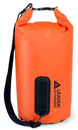 Leader Accessories Waterproof PVC Dry Bag for Boating, Kayaking, Fishing, Rafting, Swimming, and ...