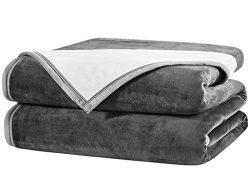 Fayonline Luxury Double-sides Reversible Fleece Blanket Super Soft Summer Cooling Warm Fuzzy Wei ...