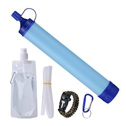 Personal Water Filter Filtration Straw Purifier Survival Gear,1500L Emergency Camping Equipment, ...