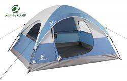ALPHA CAMP 3 Person Dome Tent for Camping Backpacking Tent – 8′ x 7′ Blue