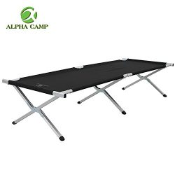 ALPHA CAMP Lightweight Camping Cots for Adults Oversize Folding Cot Bed Support 1000 LBS