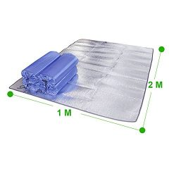 Goodjobb Aluminum film EVA Universal Outdoor Sleeping mat 12M Moisture-proof Camping Blanket
