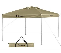 KingCamp 10 x 10 Feet Canopy Outdoor Sun Shelter Instant Folding Shade Portable Collapsible with ...