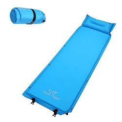 Trackman Self Inflating Sleeping Pad Lightweight Compact Waterproof with Attached Pillow for Cam ...