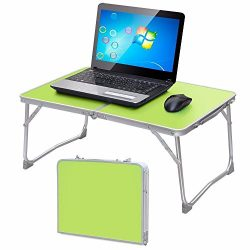Yaheetech Foldable Laptop Table/Breakfast Serving Bed Tray/Portable Mini Picnic Table/Lightweigh ...