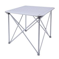 KingCamp Camping Folding Table Aluminum Alloy Frame 4-Person Roll-Top Heavy Duty Stable Versatil ...