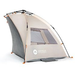 Easthills Outdoors Easy Up Beach Tent Sun Shelter – Extended Zippered Porch Included