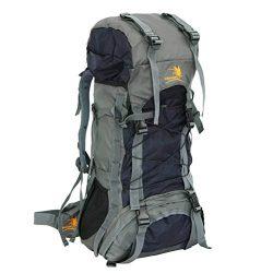 Z ZTDM 55L Internal Frame Backpack Hiking Backpacking Packs Large Capacity for Outdoor Hiking Tr ...