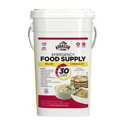 Augason Farms Deluxe Emergency 30-Day Food Supply (1 Person), 200 Servings, 36,600 Calories, Net ...