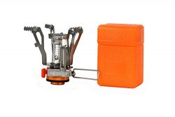 Zoeson Outdoors Mini Camping Stove,backpacking stove,backpack stove, Ultralight Collapsible Stov ...