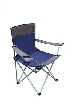 CORAL CASTLE Folding Camping Chair (Navy/Grey)
