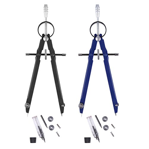 2 Pack Geometry Compass, Esee Math Compass, Spring Bow Compass, Drafting and Drawing Compass, 6  ...