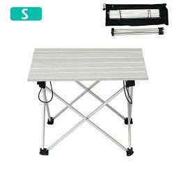 TRIWONDER Ultralight Aluminum Folding Camping Table Collapsible Portable Roll-Up for Outdoor, Ca ...