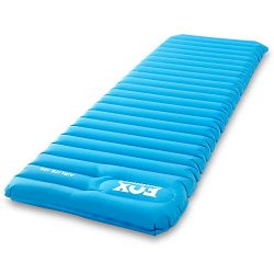 Fox Outfitters Airlite Sleeping Pad for Camping, Backpacking, Hiking. Fast Inflatable Air Tube D ...