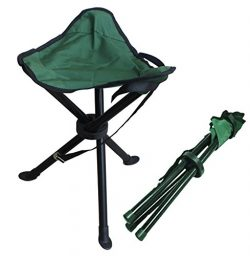 Alex Carseon Folding stool by, small, lightweight, portable seat. Foldable tripod camp chair for ...