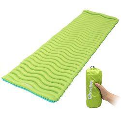 Exqline Sleeping Pad, Ultralight Inflatable Sleeping Mattress Ultra-Compact Sleeping Mat for Bac ...