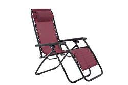 sunjoy Zero Gravity Chair-Burgundy