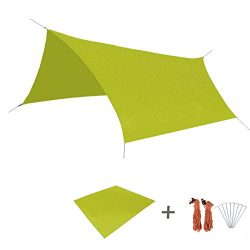 TRIWONDER Waterproof Hammock Rain Fly Tent Tarp Footprint Camping Shelter Ground Cloth Sunshade  ...