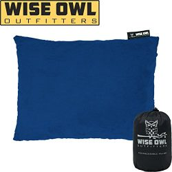 Wise Owl Outfitters Compressible Foam Camping Pillow – Camping Pillows for Sleeping – ...