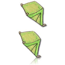 "[2 Count Set] Custom and Unique (1″ x 2″ Inch) ""Hobby"" Triangular Tent Camping Outdo ..."
